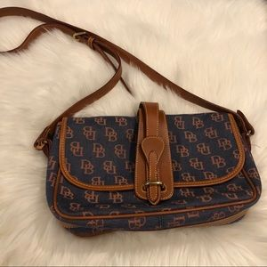 Dooney & Bourke Canvas/Leather Crossbody Purse